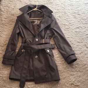 Chocolate Brown Calvin Klein Trench Coat
